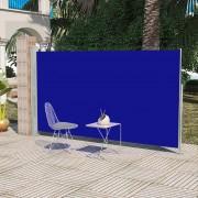 vidaXL Modrá terasová bočná markíza 160 x 300 cm
