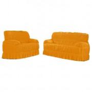 Capa para sofá Malha Mostarda III 70x200 cm - 3 e 2 lugares
