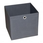 Caixa Organizadora Retangular Grande Cinza 30X32X28 Cm Acasa Móveis