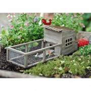 Miniature Fairy Garden Chicken Coop with Chickens