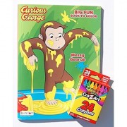 Curious George Coloring and Activity Book with Cra-Z-Art Crayons