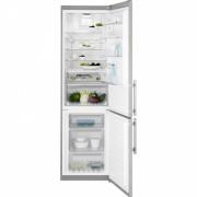 Combina frigorifica No Frost Electrolux EN3886MOX, 60 cm, inox, TwinTech®, afisaj LCD