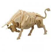 Puzzle eco 3D din lemn Taur Pebaro