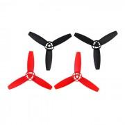 3-Blade CW et CCW Blades hélices principales Set pour Parrot Drone 3.0 Bebop - noir + rouge