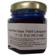 Glass Paint Lacquer Stain, Permanent 1.5 Ounce Professional Stained Glass Like Paint (Royal Blue)