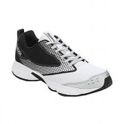 Reebok Cool Zest Men's White and Black Lace Up Sport Shoes