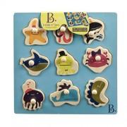 B. Los juguetes Bx1263Z - Ocultar N 'Sea Puzzle Personajes Tabla de madera Marini