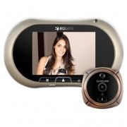 Eques R12 GSM Spioncino Digitale Porta Disp. touch 3.7 Camera 2Mpx Zoom GSM SlotSD colore bronzo