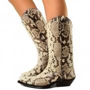Texani Donna Cowboy in Vera Pelle di Pitone Made in Italy T: 36, 37, 38, 39, 40