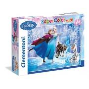 Clementoni 23679 - Frozen: Ice Skating, Maxi Puzzle 104 Pezzi