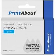 HP 940XL (C4907AE) inkjet cyaan Huismerk