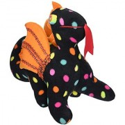 Laid Back Plush Dragon Black Polka Dot