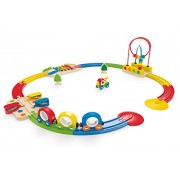 Hape - Rainbow Railway Train Set