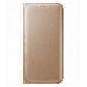 Dashmesh Shopping for Lava A76, Premium Durable Leather Flip Cover Case For Lava A76 - GOLD