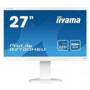 Monitor iiyama B2780HSU-W1, 27'', LCD, 2ms, 300cd/m2, 1000:1, FHD, VGA, DVI, HDMI, USB, repro, pivot, výš.nastav., biely