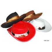 Palarie cowboy Animal Print - alba