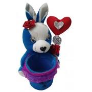 Aparshi Cute Rabbit Pen Stand stuffed soft toy