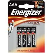 Baterii alcaline AAA Energizer 7638900247893, 1.5V, 4 buc
