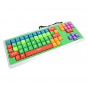Tastatura Omega, USB, taste colorate