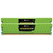 Corsair CML8GX3M2A1600C9G Vengeance Low Profile 8 GB (2 x 4 GB) DDR3 1600 Mhz C9 XMP Performance Memory Kit - Green