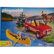 Playmobil 5898 Playset 4-Wheel Drive with Kayak and Ranger 45 Pc. Set