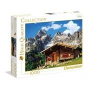 Clementoni - 39297.1 - Puzzle Collection High Quality - 1000 Pièces - Chalet de Montagne Autrichien