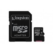 Card de memorie Micro SD Kingston, 64GB, SDC10G2/64GB, Clasa 10, cu adaptor SD