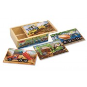 Melissa & Doug Wooden Jigsaw Puzzles in a Box - Construction by Melissa & Doug