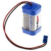 Kraftmax Batería Eneloop AA dados [F 2 x 2] 4,8 V/2000 mAh para Graupner receptor