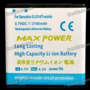 3, 7V 2100mAh batterie pour HTC SENSATION XL/G21/SENSATION 4 G/G14/SENSATION XE/G18/EVO 3D