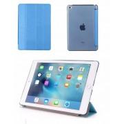 Apple iPad Mini 1 / 2 / 3 - Smart Book Case Retro Leather Hoes voor bescherming voor- en achterkant - Kleur Blauw