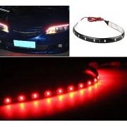 Červený vodotesný LED pásik 30cm 15diód