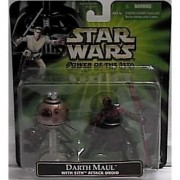 Star Wars Power of the Jedi Darth Maul Action Figure with Sith Attack Droid