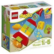 LEGO DUPLO My First Rocket 10815 Preschool Pre-Kindergarten Large Building Block Toys for Toddlers