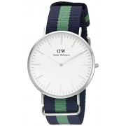 Daniel Wellington 0205DW - Reloj con correa de acero para hombre, color blanco / gris
