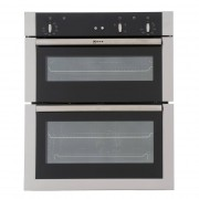 Neff U17S32N5GB Double Built Under Electric Oven - Stainless Steel