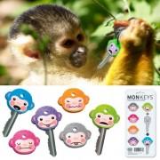 MonKEYS - Coprichiave in gomma a forma di scimmie! Set da 6