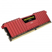 Corsair Vengeance LPX 4GB DRAM 2400MHz C14 Memory Kit For DDR4 Systems CMK4GX4M1A2400C14R Red