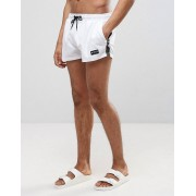 Nicce London Taping Swim Short In White - White (Sizes: L)