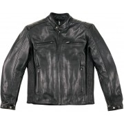 Helstons William Plain Chaqueta de cuero Negro XL