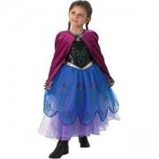 Детски карнавален костюм Анна Premium Frozen, 2 налични размера, Rubies, 610694