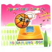 Carte de colorat cu activitati sportive - basket