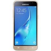 "Telefon Mobil Samsung Galaxy J3 (2016), Procesor Quad-Core 1.5GHz, Super Amoled Capacitive touchscreen 5"", 1.5GB RAM, 8GB Flash, 5MP, 4G, Wi-Fi, Dual Sim, Android (Auriu) + Cartela SIM Orange PrePay, 6 euro credit, 4 GB internet 4G, 2,000 minute nationale"