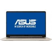"Laptop ASUS VivoBook S510UQ-BQ203 (Procesor Intel® Core™ i7-7500U (4M Cache, up to 3.50 GHz), Kaby Lake, 15.6"" FHD, 8GB, 1TB HDD, nVidia GeForce 940MX @2GB, Tastatura iluminata, Wireless AC, Endless OS, Auriu Metalic)"