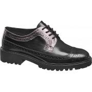 Sapato estilo Oxford em pele