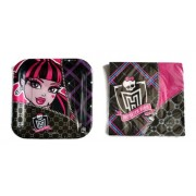 Monster High Paper Plates & Napkins Set for 8