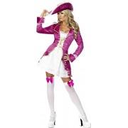 Smiffys Déguisement Femme Pirate, Robe, Jupe et Chapeau, Pirates, Fever, Taille L, Couleur: Rose, 30731