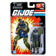 Hasbro Year 2008 G.I. Joe Comic Series 4 Inch Tall Action Figure - Arctic Trooper SNAKE EYES with Harness Backpack Katana Sword Submachine Gun Snow Shoes and Display Stand