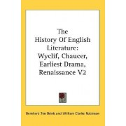 The History of English Literature by Bernhard Ten Brink