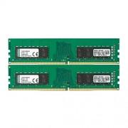 Kingston KVR21N15D8K2/32 ValueRAM Kit 2 Memorie DDR4 da 16GB, Totale 32GB, 2133MHz, DDR4 Non-ECC, CL1,5 DIMM, Verde/Nero